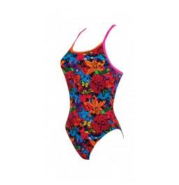 Zoggs Pop Flower Triback Swimsuit