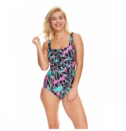 Zoggs Class Diva Square Front Clip Back Swimsuit