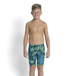 Speedo Boys' Allover Print Jammer Black/Blue