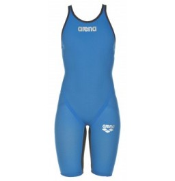 Arena Carbon Flex VX Open Back Suit - Blue/Grey