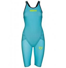 Arena Carbon Flex VX Open Back Suit - Turquoise/Black