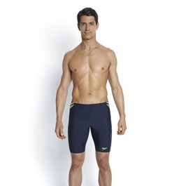 Speedo Men's Placement Panel Jammer Navy/Green