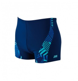 Zoggs Mens Blue Fusion Spliced Hip Racer