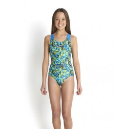 Speedo Girls' Sambeeny Allover Splashback Swimsuit
