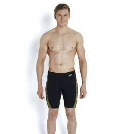 Speedo Men's Monogram Jammer - Black/Gold