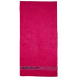 Speedo Border Towel Pink/Grey