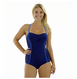 Zoggs Blue Bazaar Twist Booty Suit