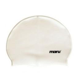 Maru Silicone Swim Hat White