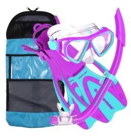Aqua Lung Junior Dorado Mask, Snorkel, Fin Purple