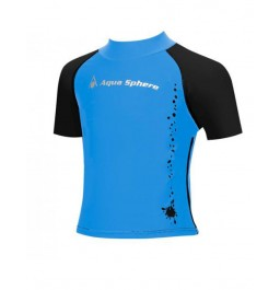 Aqua Sphere boys Aqua Light Short Sleeve Rashguard