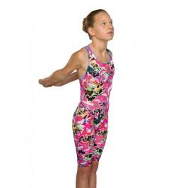 Maru Girls Scribble Pacer Legsuit Pink