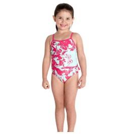 Speedo Girls Essential Frill 1-Piece Swimsuit