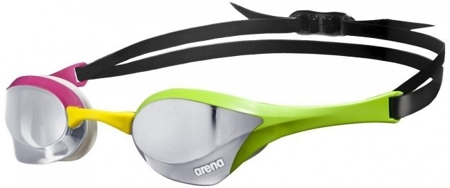 Arena Cobra Ultra Mirror Racing Goggles Silver Green Pink