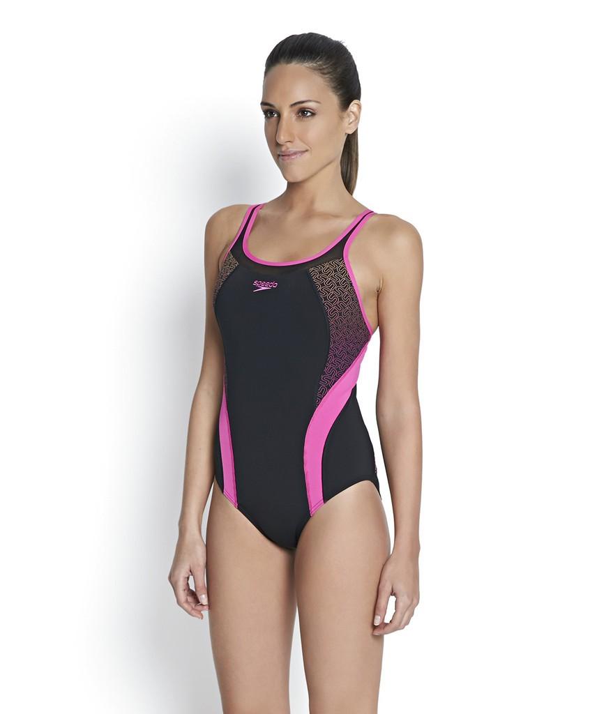 Speedo Women S Fit Body Positioning Kickback Swimsuit