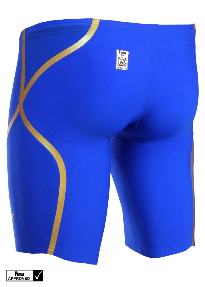 Speedo Men S Fastskin Lzr Racer X High Waist Jammer Blue Gold