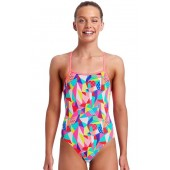 Funkita Girls Pastel Patch Strapped In One Piece