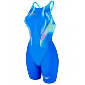 Speedo Women's Fastskin LZR Racer Elite 2 Open Back Kneeskin - Blue