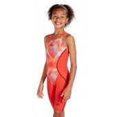 Speedo Fastskin Junior LZR Racer X Openback Kneeskin Red/Pink