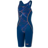 Speedo Girls LZR Racer X Kneeskin - Blue/Orange