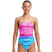 Funkita Girls Regatta Royale Tie Me Tight One Piece
