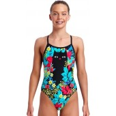 Funkita Girls Scaredy Cat Single Strap One Piece