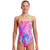 Funkita Girls Kaleidocolour Single Strap One Piece