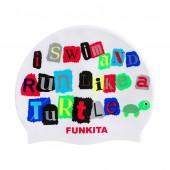 Funky Trunks Swim Turtle Run Silicone caps