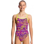 Funkita Girls Dotty Dash Single Strap One Piece