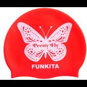 Funkita Pretty Fly Pink Silicone Swim Cap