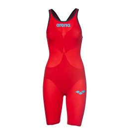 Arena Carbon Air 2 Open Back Kneeskin - Red/Blue