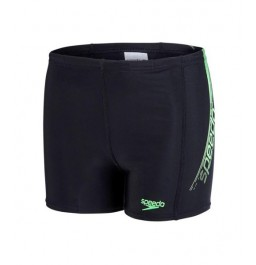 Speedo  Boys' Logo Panel Aquashort Black/Green