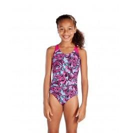 Speedo Astropop Allover Splashback Swimsuit Pink/Blue