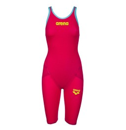 Arena Carbon Flex VX Open Back Suit -  Red-Turquoise
