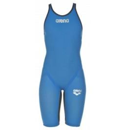Arena Carbon Flex VX Open Back Suit - Blue/Grey