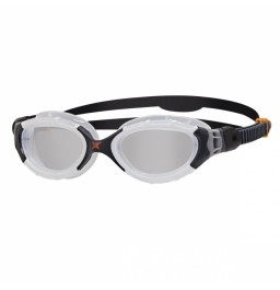 Zoggs Predator Flex Goggles Gunmetal/Clear/White/Red