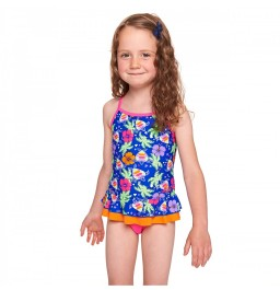 Zoggs Girls Carnival X Back Swimdress