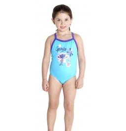 Speedo Essential Thinstrap 1 Piece Turquoise / Violet Junior