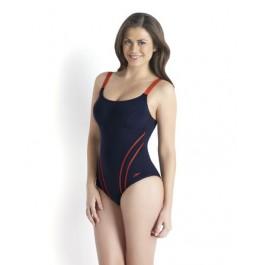 Speedo Women's Sculpture Clearglow Swimsuit Navy/Red