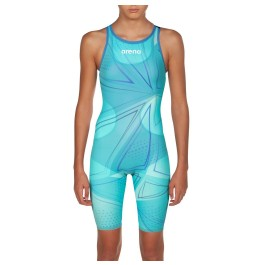 Arena Junior Powerskin R-EVO One Openback Kneeskin 2019 Limited Edition- Blue Glass