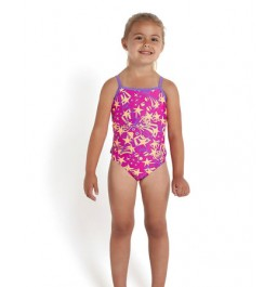 Speedo Essential Frill One Piece Pink/Orange