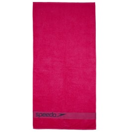 Speedo Border Towel Pink/Grey