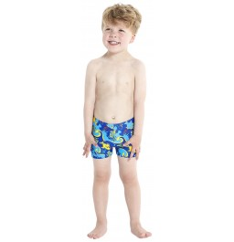 Speedo Seasquad Allover Aquashort - Blue/Blue
