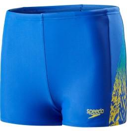 Speedo Lightning Spritz Panel Aquashort Blue/Yellow
