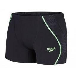 Speedo Men's Fit Splice Aquashort Black/Green