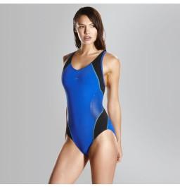Speed Fit Splice Muscleback Swimsuit - Blue/Black