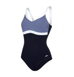 Speedo Sculpture AquaJewel Swimsuit Navy/Grey