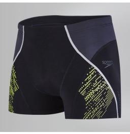 Speedo Fit Panel Aquashorts - Black/Grey