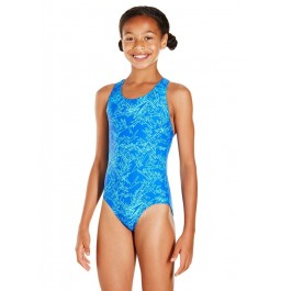Speedo Boom Allover Splashback Swimsuit Blue/Blue