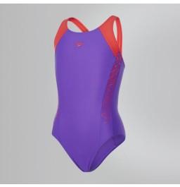 Speedo Boom Splice Muscleback Swimsuit - Purple/Pink