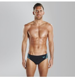 Speedo Boom Splice 7cm Brief Black/Blue